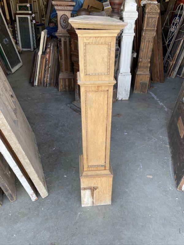 Bova 44 Antique Oak Newell Post 44 X 7.75 X 8 Stripped