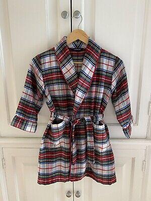 Boys Preppy Belts (Lands End Flannel Tartan Plaid Preppy Robe Belt Pockets Youth Kids 5-6 M)