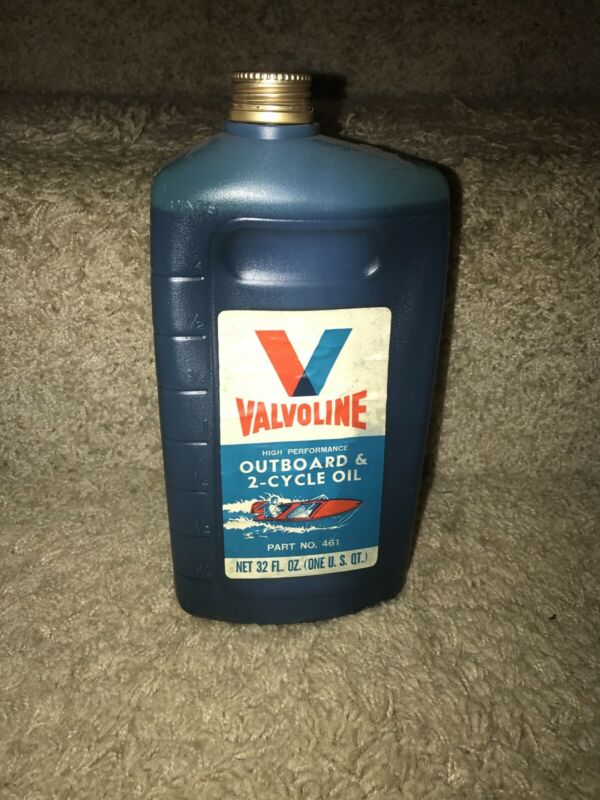 Vintage Valvoline Outboard & 2-Cycle Oil  High Performance Part NO. 1 Qt. T9