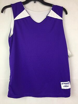 Champro Sports Team Apparel Womens Reversible Basketball Jersey Size L PurpleWht