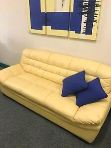 Leather Sofa + 2 Chairs - Great Condition - Office or Home Camden Camden Area Preview