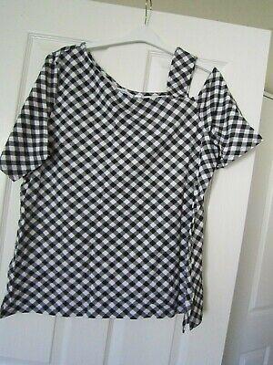 One-shoulder Knit Top ( Isaac Mizrahi Live! Gingham Print One Shoulder Knit Top A 305744012670 XL)