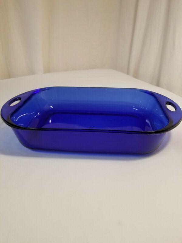 "Anchor Hocking 10""x13"" 4 Quart Cobalt Blue Casserole/Baking Dish.USA!"