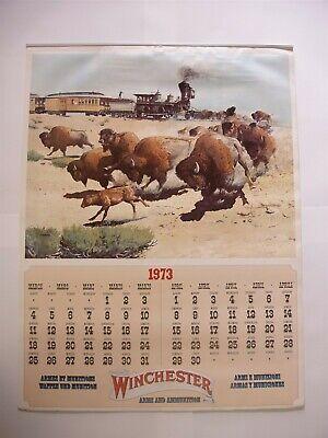 Rare Original Complete 1973 Winchester 5 page Calendar with Ferrara Graphics