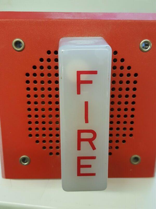 Used Wheelock Fire Alarm Speaker w/ Light Wall Mount
