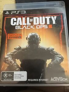Call of Duty black ops III 3 PS3 game, as new, can post