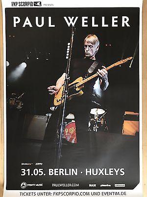 PAUL WELLER  2017  BERLIN - orig.Concert Poster -- Konzert Plakat  A1 NEU