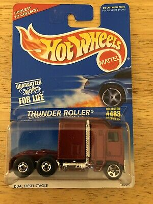 HOT WHEELS THUNDER ROLLER (MAROON) COLLECTOR # 483 NEW CONDITION