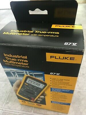 Fluke 87v Industrial True-rms Multimeter W Temperature Manufacture Date 8-2020