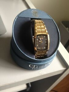 New Citizen Eco-Drive Gold Watch