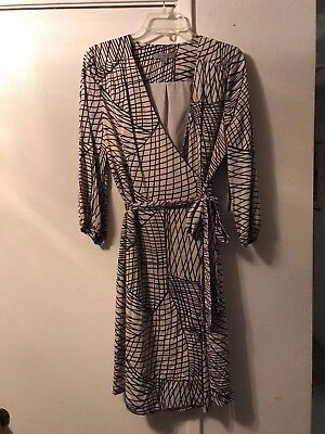 CLASSIQUES  ENTIER LADIES BELTED  FAUX WRAP DRESS  SIZE 8  NWT for sale  Shipping to India