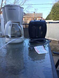 Machine café et petit chauffage
