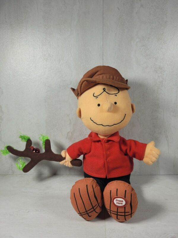 Hallmark Charlie Brown Just The Right Tree Charlie Brown Plush Talking & Works