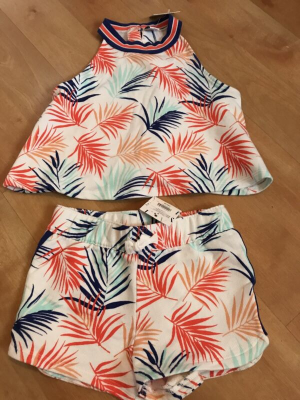Janie And Jack Sport Ruffled Striped Top Shorts NWT Size 7
