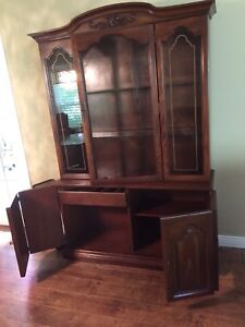 Dinning room oak hutch