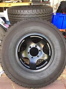 4x Goodyear Wrangler Tyres and 5 Spoke wheels Yangebup Cockburn Area Preview