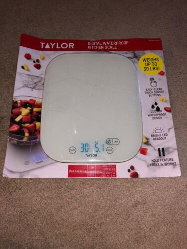 Taylor Digital Waterproof Kitchen Scale Weighs up to 30 LB