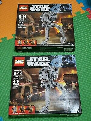 LEGO Star Wars AT-ST Walker (75153) lot of 2 NEW damaged boxes