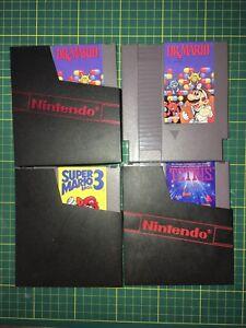 Classic NES Nintendo games Mario Tetris dr. mario