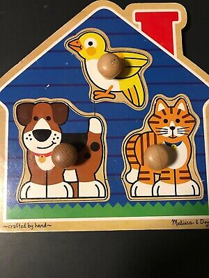 Melissa & Doug House Pets Jumbo Knob Puzzle #2055 -Pre Owned, used for sale  Lititz