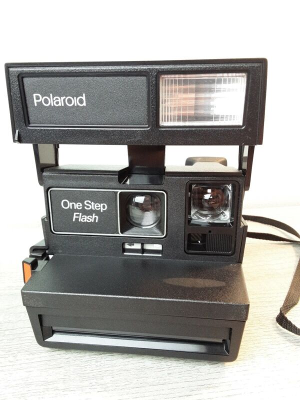 Polaroid One Step Flash Instant 600 Film Camera Tested Works Pictures Vintage ⚡