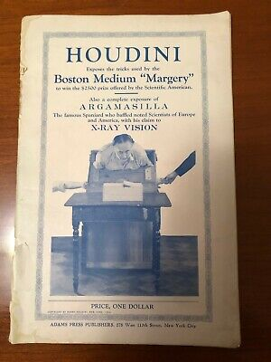 "Houdini Exposes the Tricks Used by the Boston Medium ""Margery"" - 1924"