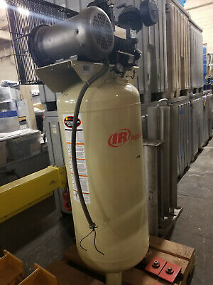 Ingersoll-rand T30 Air Compressor 5 Hp 60 Gallon Vertical Tank 175 Max Psi