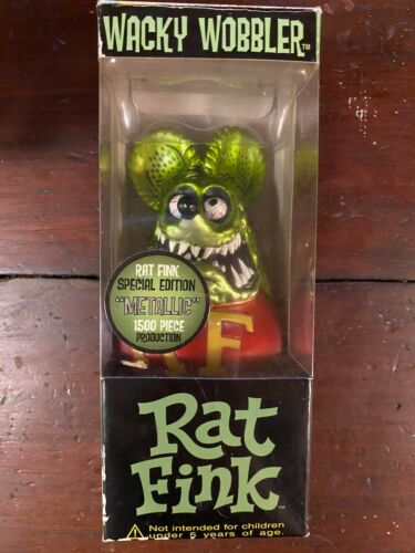 RAT FINK - FUNKO Wacky Wobbler - Special Edition Metallic Ed Roth