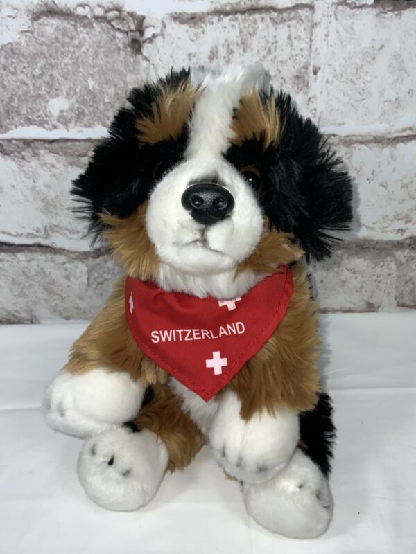 Switzerland Swiss BERNESE MOUNTAIN DOG Uni-Toy Plush Puppy RARE