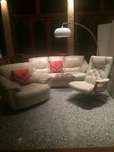Lounge suite: Leather, Natuzzi, 1 x 3 seater, 2 x 1 seater Floreat Cambridge Area Preview