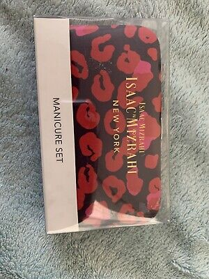 Isaac Mizrahi New York 5pc  Manicure Set New In Case Ships Free