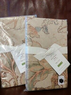 set of 2 NEW Pottery Barn Grace King Shams Floral Sold Out! NEW