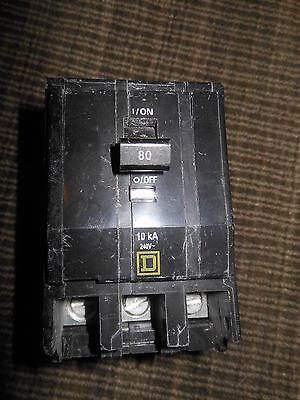 Square D Qob380 80amp 3pole 240v Circuit Breaker Warranty