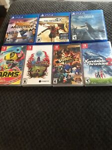 Ps4 and switch games