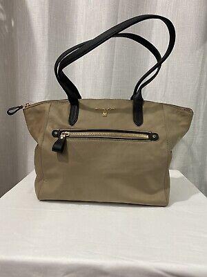 Michael Kors Kelsey Nylon Women's Large Top Zip Tote Bag Handbag Travel Bag TAN