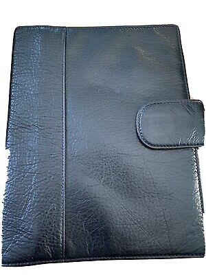 Levenger Circa Leather Softolio- Junior- Black