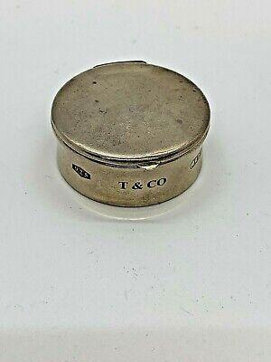 Tiffany & Co. Sterling Silver .925 Pill Box Spain