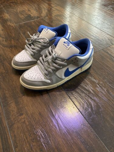 Nike SB Dunk Low Pro Matte Silver/Varsity Royal Blue/White 2011 Size 9 used