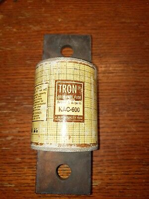 TRON KAC-600 RECTIFIER FUSE 600 AMP 600 VOLT OR LESS NEW NO BOX