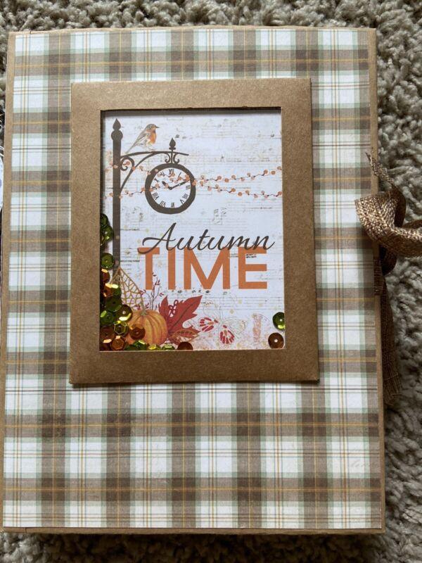 Handmade Scrapbook Mini Album Autumn Mini Album