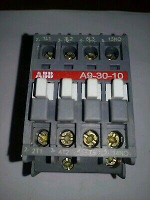 ABB CONTACTOR A9-30-10 26A 220/230V 5.5KW 7.5HP 110/120V COIL