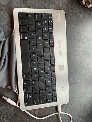 GGMM B-Typer Ultra Slim Wireless Bluetooth Keyboard - Silver