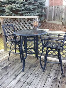 Outdoor table bar set