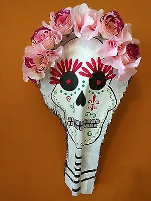 HAND PAINTED  PALM TREE FROND DAY OF THE DEAD PALM FROND ART