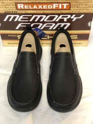 NEW! Skechers Men's HARPER FORDE Slip On Dress Shoes Black
