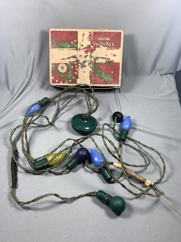 Vtg Christmas Gacor Twinkle Light Set