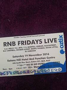 1X RnB GA Ticket North Lakes Pine Rivers Area Preview