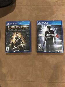 Dues ex and uncharted 4 bundle PS4 games