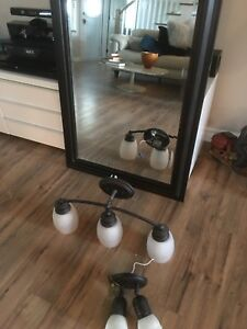 Mirror with vanity lights