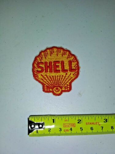 VINTAGE Embroidered Automotive Gasoline Patch UNUSED - SHELL small